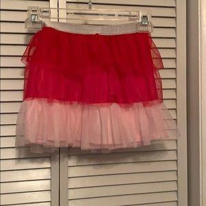 Celebrate tutu pink lace girls skirt
